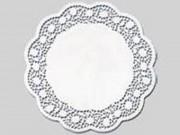 Pizzi rose bianco diam. cm. 45 pz. 100