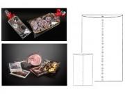 Sacchetti piatti trasparenti cm 8x30 pz.100