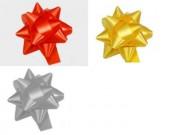 Stelle fiocchi coccarde assortite adesive diametro cm.6 pz.100