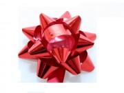 Stelle fiocchi coccarde metal rosso adesive diam. cm.4 pz.10