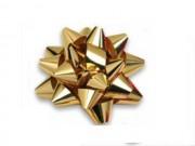 Stelle fiocchi coccarde metal oro adesive diam. cm.6 pz.100