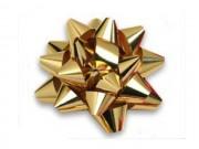 Stelle fiocchi coccarde metal oro adesive diam. cm.8 pz.50