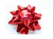 Stelle fiocchi coccarde metal rosso adesive diam. cm.8 pz.50