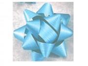 Stelle fiocchi coccarde adesive azzurro diametro cm. 8 pz.50