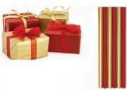 Rotolo carta regalo metal.rosso-oro cm 70x200