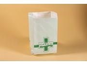 Sacchetto farmacia carta kraft cm 10+6x20 kg.10 pz.3.333 circa