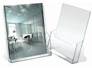 Portadepliant trasparente cm. 23x25x3