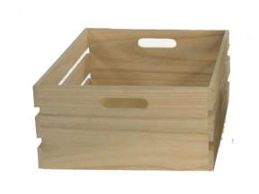 Cassetta in legno naturale mm.400x300 h.150
