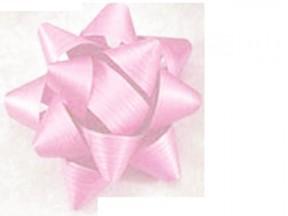 Stelle fiocchi coccarde adesive rosa diametro cm. 8 pz.50
