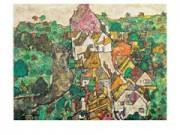 Egon schiele il paesaggio cm. 88x68 stampa arte affiches