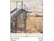 Egon schiele il ponte cm. 50x50 stampa arte affiches
