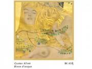 Gustav klimt biscie d'acqua cm. 33x33 stampa arte affiches