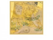 Gustav klimt biscie d'acqua cm. 69x69 stampa arte affiches