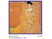 Gustav klimt a.bloch, bauer i cm. 33x33 stampa arte affiches