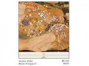 Gustav klimt biscie d'acqua cm. 50x50 stampa arte affiches