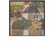 Gustav klimt casa ad unterach cm. 69x69 stampa arte affiches