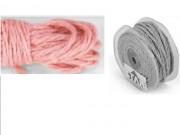 Cordoncino naturale mm.4 metri 20 rosa