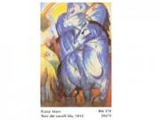 Franz marc torri dei cavalli blu cm. 50x70 stampa arte affiches