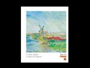 Claude monet champ de tulipes cm.90x90 stampa arte affiches