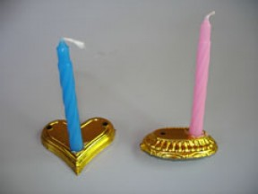 Base ovale per candeline e numeri pz. 10