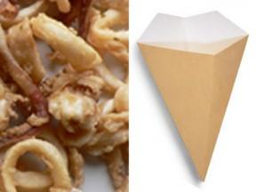 Coni per gastronomia fritti in cartoncino h. 22,5 d. 15 pz.50