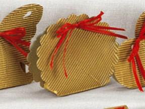 Bomboniera portaconfetti nozze oro mm. 58x40x85 pz. 50 sconto 30