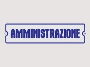 Targhetta amministrazione mm. 75x275
