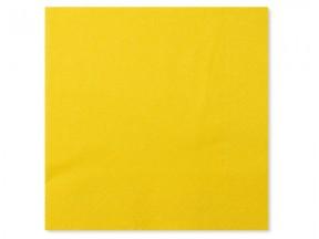 Tovaglioli carta 2 veli giallo cm. 33x33 pz. 50