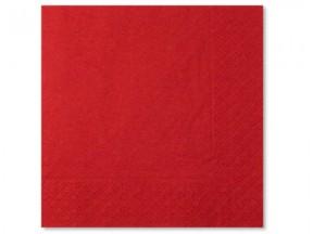 Tovaglioli carta 2 veli rossi cm. 33x33 pz. 50
