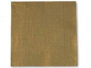 Tovaglioli carta 2 veli oro cm 33x33 pz.20