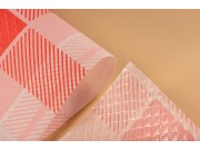 Tovaglie coprimacchia politenata quadri rossi cm 100x100 pz.50