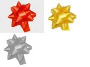 Stelle fiocchi coccarde assortite adesive diametro cm.8 pz.50