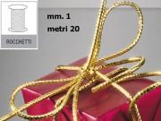 Cordoncino tubolare oro mm. 1 metri 20