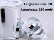 Nastro metal lucido argento mm. 10 metri 250