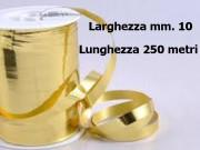Nastro metal lucido oro mm. 10 metri 250