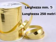 Nastro metal lucido oro mm. 5 metri 250