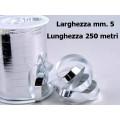Nastro metal lucido argento mm. 5 metri 250