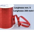 Nastro rocchetto metal rosso mm. 5x250 mt.
