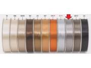 Nastro raso doppio satinato mm.3 metri 100 argento