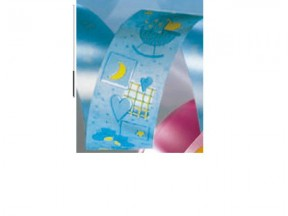 Nastro per nascita battesimo azzurro mm. 31 50 metri 50