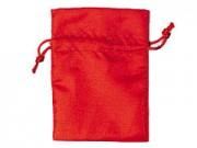 Sacchetto seta satinata rosso cm. 12x17 pz.10