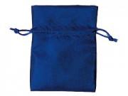 Sacchetto seta satinata blu cm. 12x17 pz.10