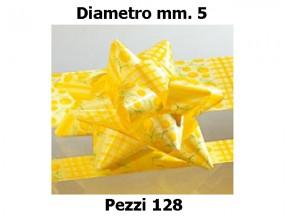Stelle fiocchi coccarde stampa mimosa diametro mm.5  pz. 128