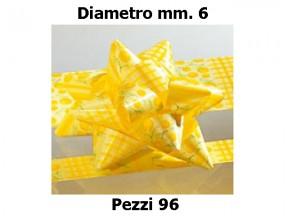 Stelle fiocchi coccarde stampa mimosa diametro mm.6  pz. 96