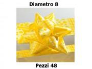 Stelle fiocchi coccarde stampa mimosa diametro mm.8  pz. 48