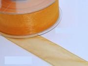 Nastro organza  mm.25 metri 25 arancio