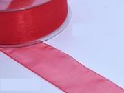 Nastro organza mm. 25 metri 25 rosso