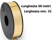Nastro  metal oro mm. 31 metri 50