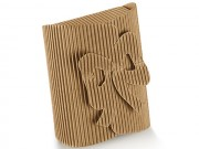 Scatola cartone onda avana chiusura a fiocco mm 70x60x30 pz.10