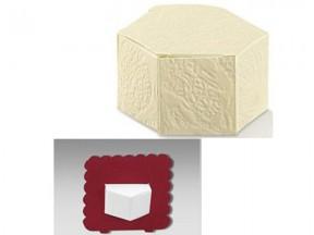 Portaconfetti scatola con segnaposto bordeaux mm 60x30 pz.50